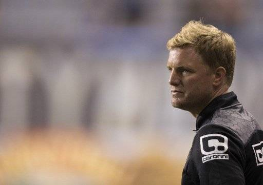 PHILADELPHIA, PA - JULY 14: Manager Eddie Howe of AFC Bournemouth looks on during the friendly match against the Philadelphia Union on July 14, 2015 at the PPL Park in Chester, Pennsylvania. Mitchell Leff/Getty Images/AFP