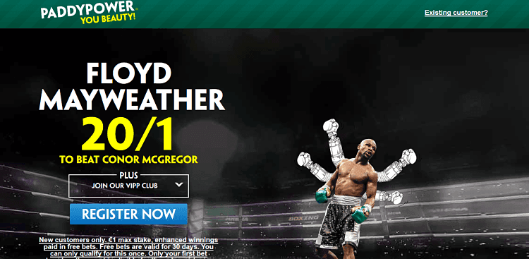 Mayweather Vs. Mcgregor Betting w/ Paddy Power