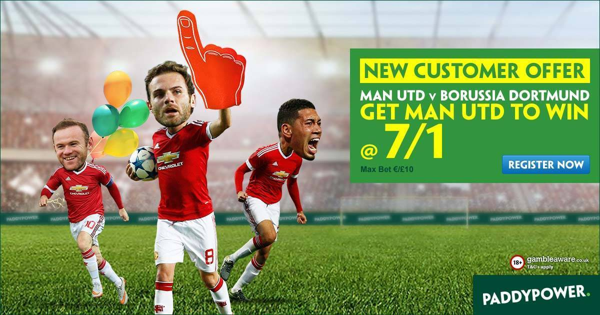 Grab these enhanced odds on Man.Utd at Paddy Power!