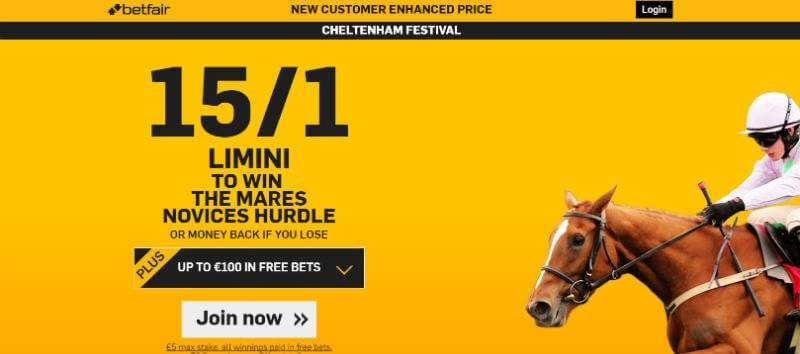 Cheltenham 2016 Enhanced Price with Betfair