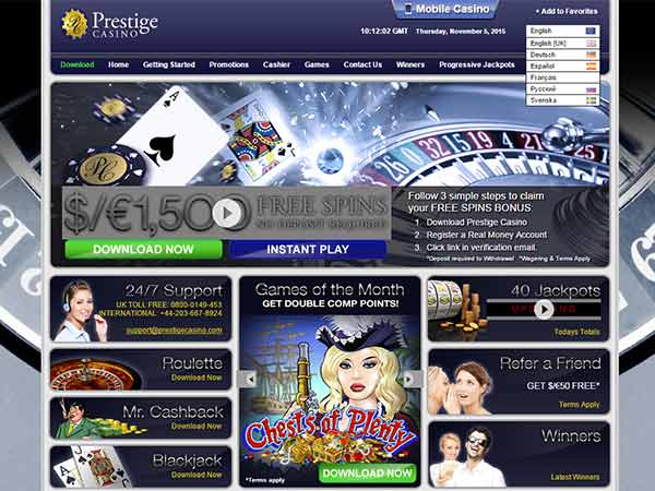 Prestige Casino screenshot