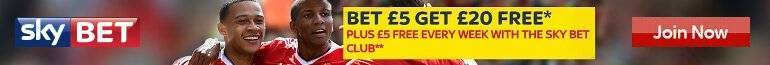 Claim your £20 Free bet on Sky bet