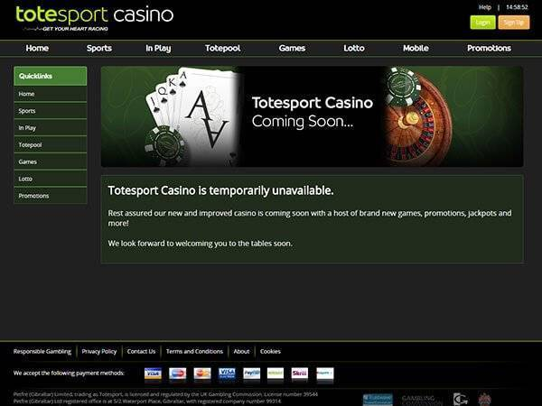 Totesport Casino screenshot