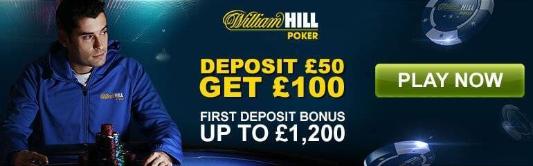 William Hill Poker bonus offer banner