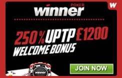 Winner Poker offer banner