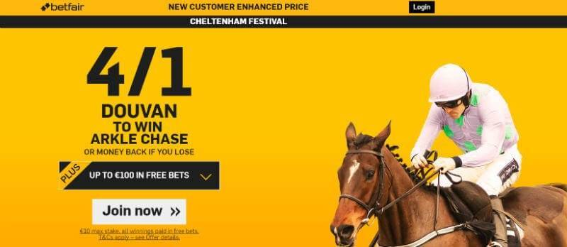 4/1 Douvan win Arkle Betfair