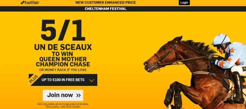 5-1 un de sceaux with Betfair