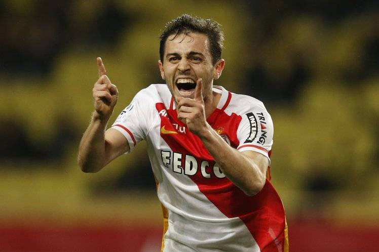 Monaco's Portuguese midfielder Silva Bernardo celebrates after scoring a goal during the French L1 football match Monaco (ASM) vs Bastia (SCB) on February 2, 2016 at the Louis II Stadium in Monaco. AFP PHOTO / VALERY HACHE / AFP / VALERY HACHE (Photo credit should read VALERY HACHE/AFP/Getty Images)