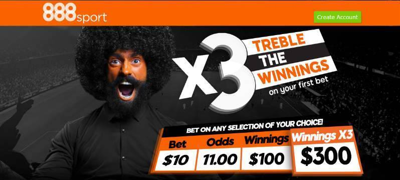 888sport Treble your Odds