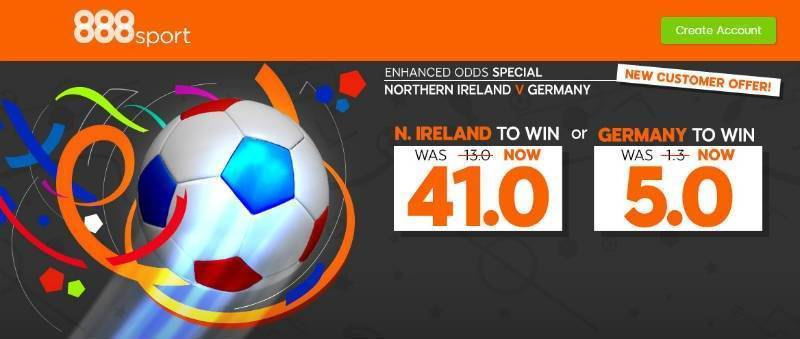 Northern Ireland v Germany 888Sport Offer