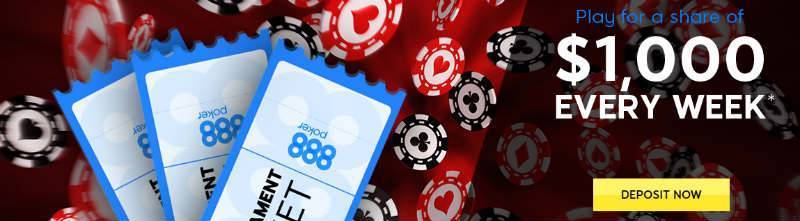 888poker $1,000 Weekly Share Promotion