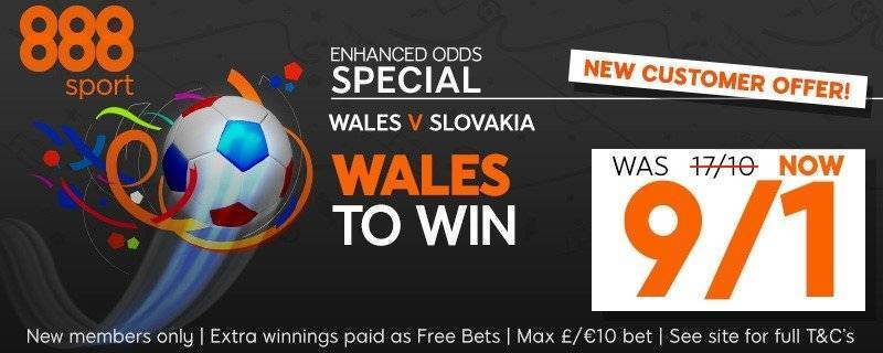 888 Euro 2016 Enhanced Free Bet