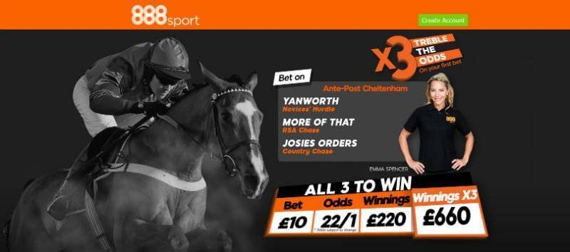 Ladies Day Treble Offer with 888Sport