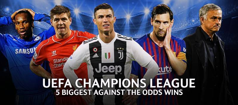 UEFA Champions League 5 biggest against the odds wins | Freebets co uk