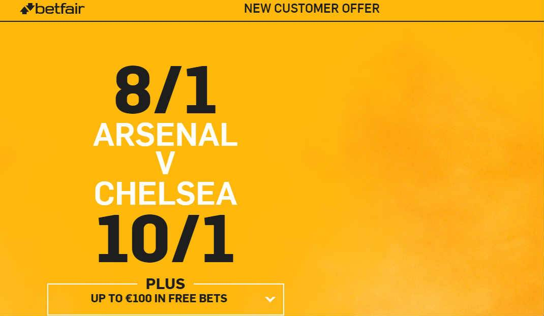 Arsenal v Chelsea Enhanced Odds