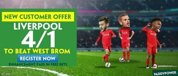 Betting tip for PL game Liverpool to win West Brom
