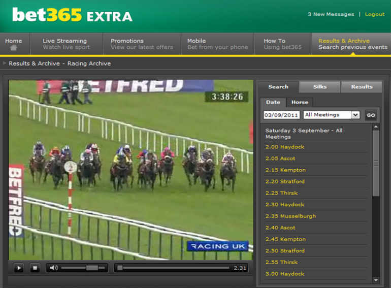 Live racing with Bet365 Cheltenham