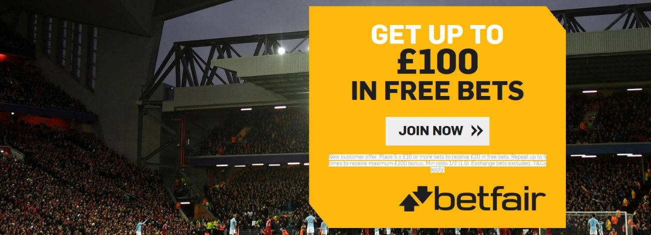 Betfair Free Bets - Bet £20 Get £40 in Free Bets | Freebets co uk