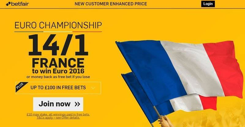 Euro 2016 Free Bet Enhanced Offer Betfair