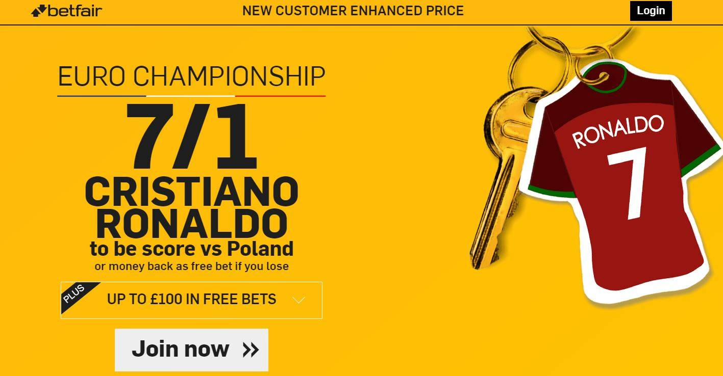 Betfair Ronaldo Offer 2