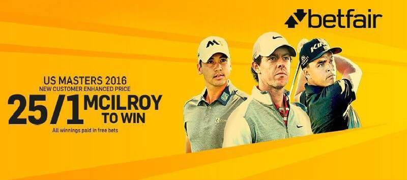 Betfair Enhanced Odds US Masters 2016