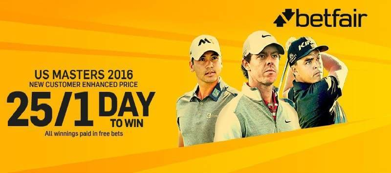 Betfair US Masters 2016 Enhanced Odds
