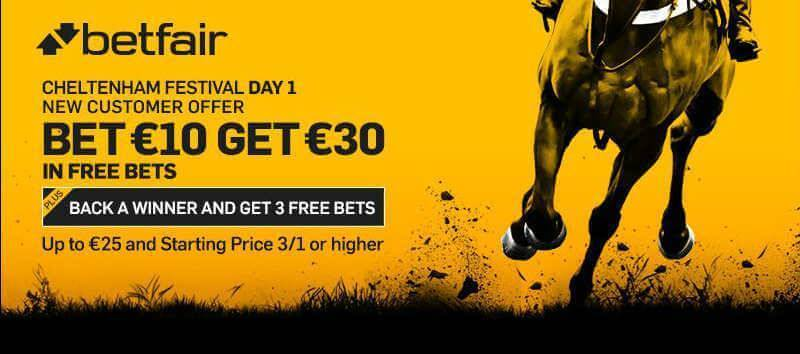 Cheltenham 2016 Bet 10 Get 30 with Betfair