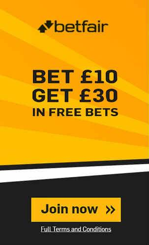 Claim £30 Betfair Free Bet