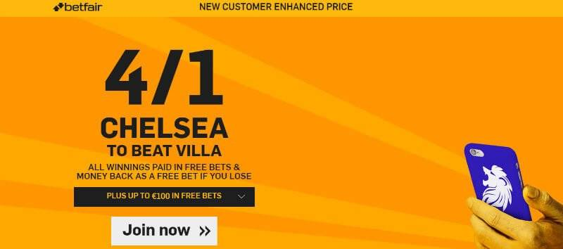 Betfair Enhanced Odds Premier League Offer