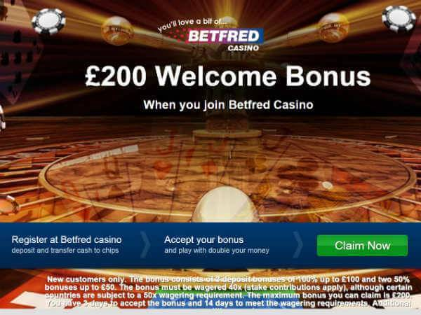 Betfred Casino Casino Bonus
