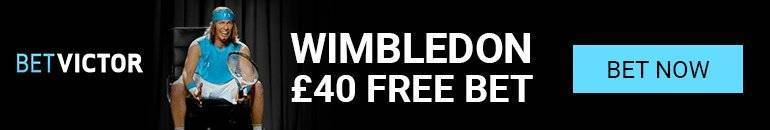 Claim £40 Betvictor free bet at Wimbledon