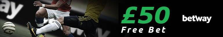 Claim £50 Betway Free Bet