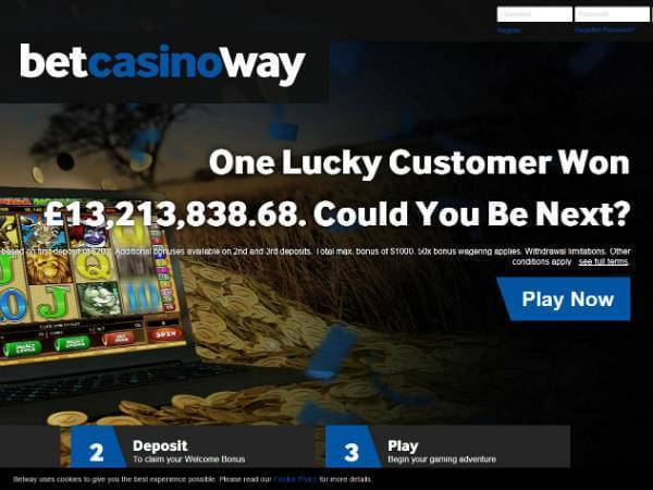 Betway Casino Bonus Offer