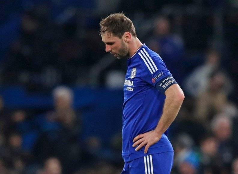 Football Soccer - Chelsea v Paris St Germain - UEFA Champions League Round of 16 Second Leg - Stamford Bridge, London, England - 9/3/16 Chelsea's Branislav Ivanovic looks dejected at the end of the match Reuters / Eddie Keogh Livepic EDITORIAL USE ONLY.