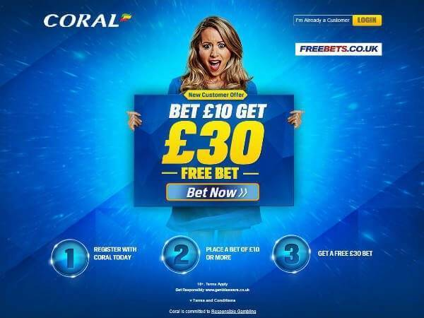 Bet 10 Get 30 Coral Sports
