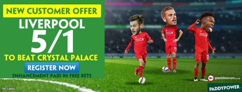 Liverpool to win 5/1