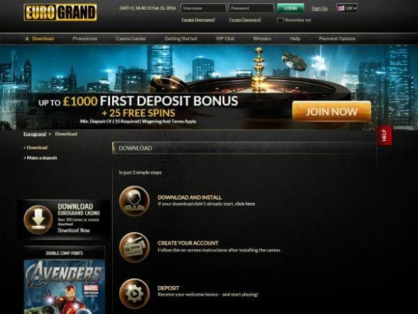 Euro Grand Casino Registration