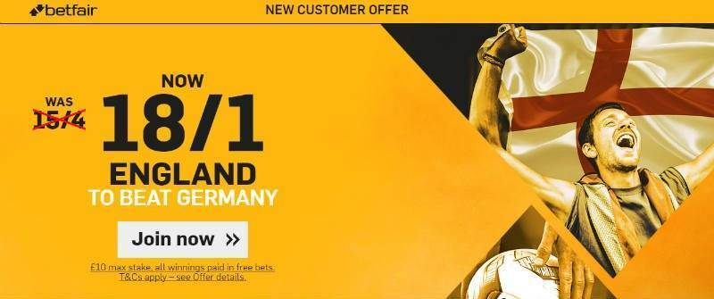 Back England 18/1 @Betfair