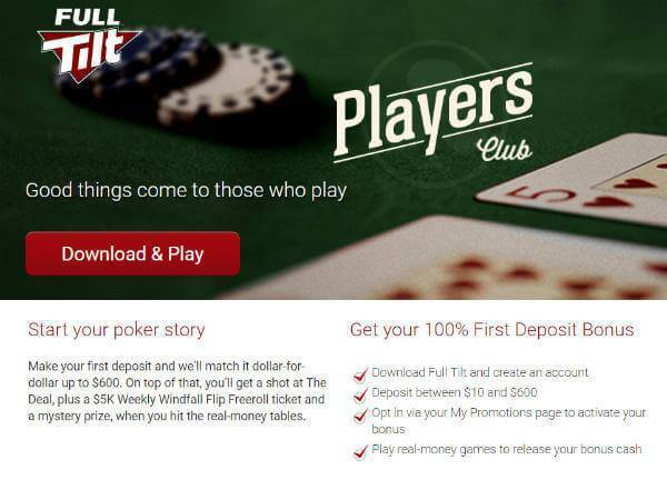 Win up to $600 in Full Tilt Poker