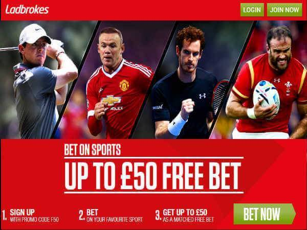 Free bet by Ladbrokes