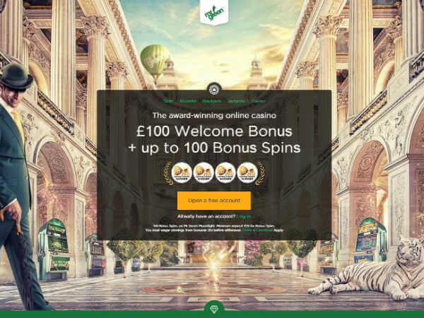 Mr Green Casino SIgn Up Offer