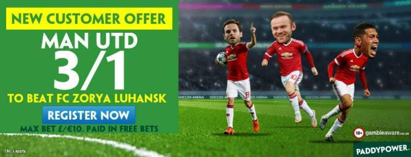 Man Utd to Win 3/1 with Paddy Power