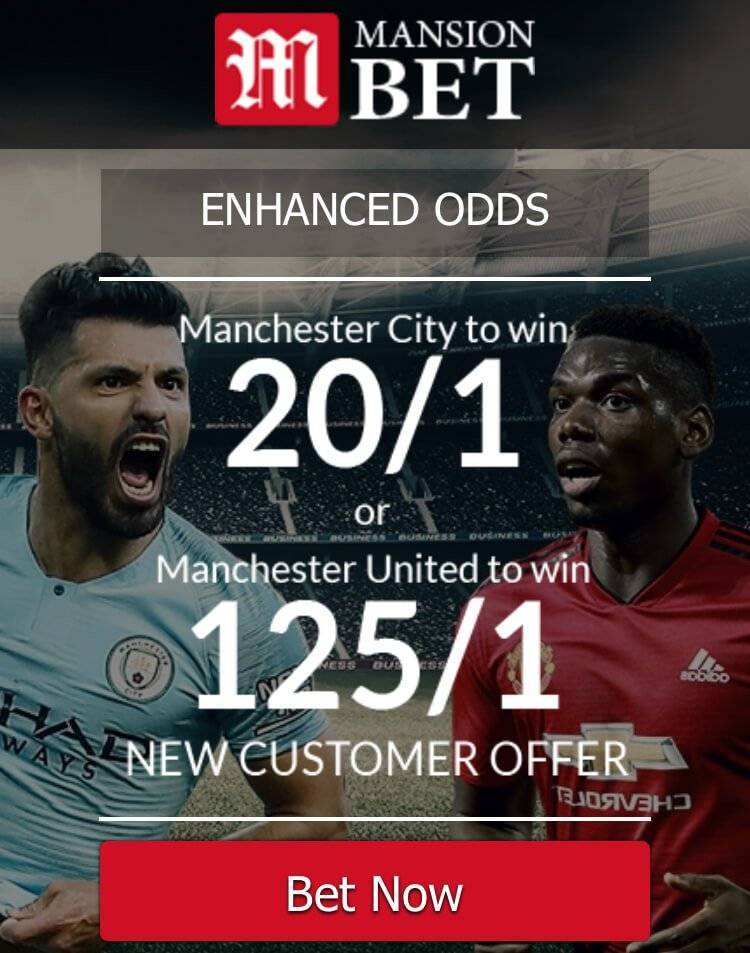 Mansion Bet - Manchester Derby Betting offer - Freebets.co.uk