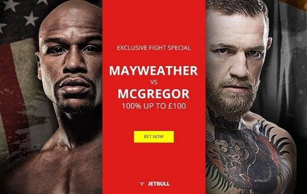 Mayweather McGregor Betting offer from Jetbull