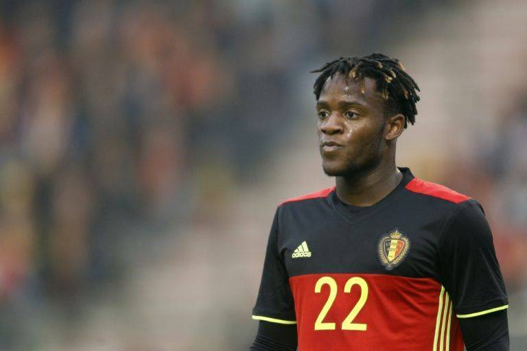 Michy Batshuayi of Belgium during the International friendly match between Belgium and Finland on June 1, 2016 at the Koning Boudewijn stadium in Brussels, Belgium.(Photo by VI Images via Getty Images)
