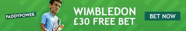 Claim Paddy Power Free Bet for Wimbledon