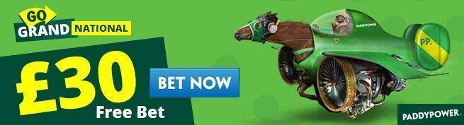 Claim £30 Paddy Power Free Bet