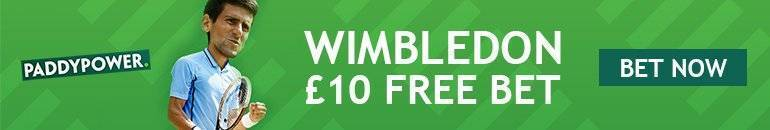 Claim Wimbledon free bet with Paddy Power