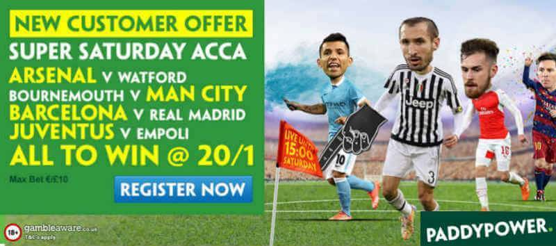 Football Enhanced Offer by Paddy Power