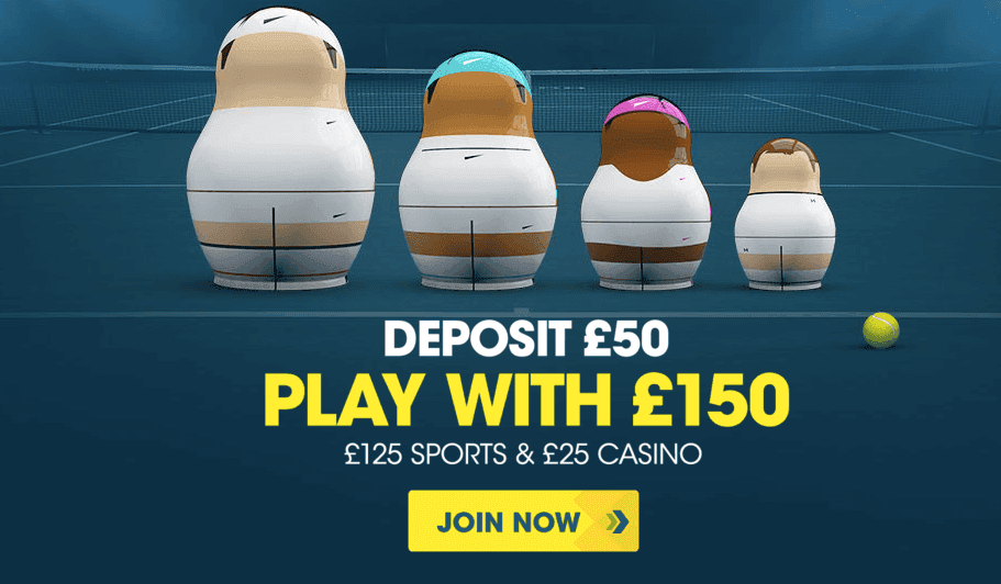 Deposit 50 And Bet With 150 At Wimbledon With Betbright